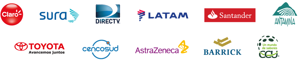 Clientes: Siemens, Movistar, Hp, Hertz, Nestlé, pwc, Volvo, Merck, Scotiabank, Falabella, Samsung, Ferrero, UPME, Codensa, Syngenta